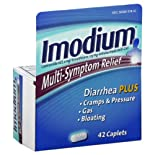 Imodium Antidiarrheal/Anti-Gas, Multi-Symptom Relief, Caplets, 42 ct.