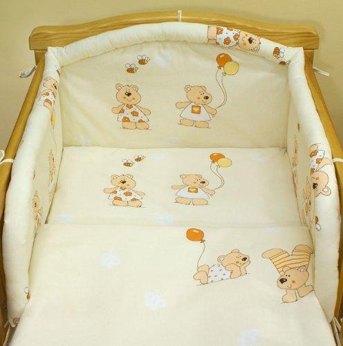 Ecru baloons 6 pieces bedding set Cot bed (70cm x 140cm)