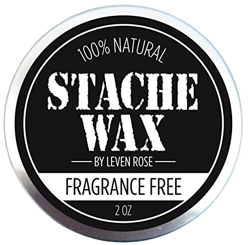 BEST Mustache Wax & Beard Wax by Leven Rose - 100% Natural Grooming Wax for Moustache Grooming and Beard Growing Salve for Men - Fragrance Free Best Beard Oil Balm Unscented - 2 Oz (U Smooth Hair Brush compare prices)