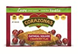 Corazonas Oatmeal Squares, Cranberry Flax, 1.76-Ounce Bars (Pack of 12)