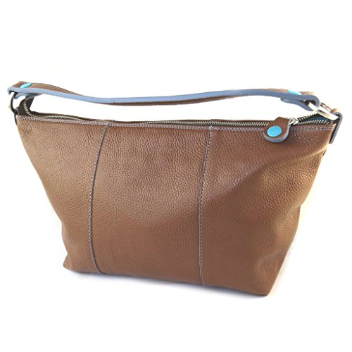 Borsa di cuoio 2 in 1 'Gabs'brown (l)- 39x28x9 cm.