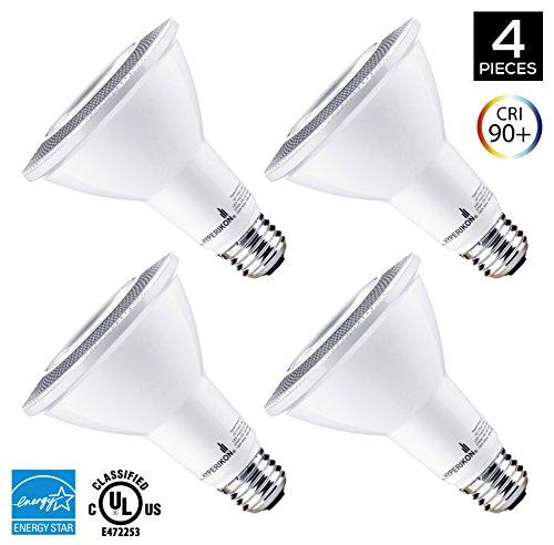 Hyperikon PAR30 LED Bulb, 12W Dimmable Flood Light Bulb, 65-75W Halogen Bulb Equivalent, 900lm, 2700K (Warm White), 40° Beam Angle, E26 Base, Recessed Lights, ENERGY STAR & UL - (Pack of 4) (30 Par Led Lights compare prices)