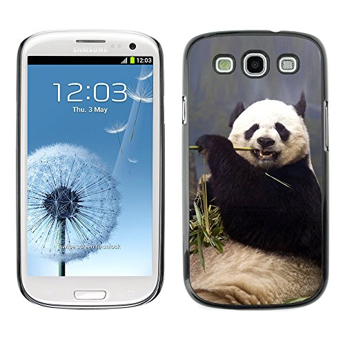 Omega Case Strong & Slim Polycarbonate Cover - Samsung Galaxy S3 Iii I9300 ( Funny Hungry Panda )