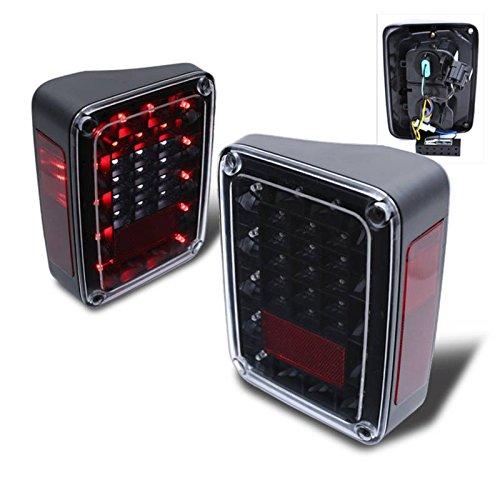 Sppc Black Led Tail Lights For Jeep Wrangler - Passenger And Driver Side