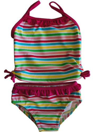 ベビータンキニ水着 スイムウエア Baby Swim wear Rainbow size:6M~9M~12M~18M~23M 2~3~4YRS (12-18M 86cm)