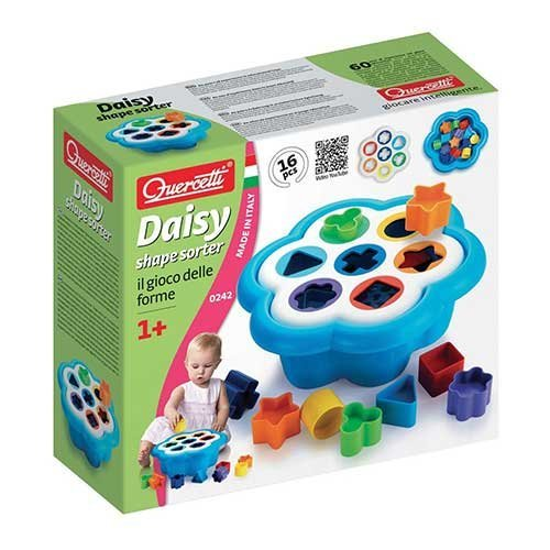 Quercetti-Daisy-Shape-Sorter-Classic-16-Piece-Shape-and-Color-Sorting-Toy-Made-in-Italy