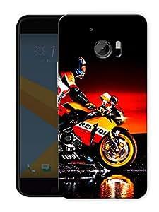 "Humor Gang Superbike Love Printed Designer Mobile Back Cover For ""HTC 10"" (3D, Matte, Premium Quality Snap On Case)"