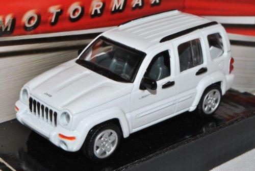Jeep Liberty Cherokee KJ 2001-2008 Weiss 1/43 Motormax Modell Auto