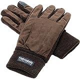 (マルカワジーンズパワージーンズバリュー) Marukawa JEANS POWER JEANS VALUE 手袋 メンズ グローブ スマホ対応 スマートフォン対応 フェイクスエード 裏フリース 高機能中綿素材 3color Free ダークブラウン