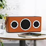 GGMM-M4-Multiroom-Lautsprecher-AirPlay-Lautsprecher-Portable-WIFI-Bluetooth-Lautsprecher-Outdoor-Wireless-Speaker-mit-Lederhandgriff-Orange