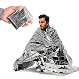Emergency Shelter Tent Mylar Blanket Reinforced Nasa Durable Reflective Waterproof Safeguards Against Extreme Cold Weather Elements, 2 Person (8x3) with 20 Sturdy Nylon Rope By Inside N Beyond.