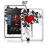 TaylorHe Colourful Decal Vinyl Skin for Amazon Kindle Fire HD 8.9 Ultra-slim protection with pretty patterns MADE IN BRITAIN Red Love Heart and Vines