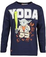 """LEGO Wear Jungen Langarmshirt LEGO Star Wars Langarmshirt Yoda THOR 357 """"leuchtet im Dunkeln"""""""