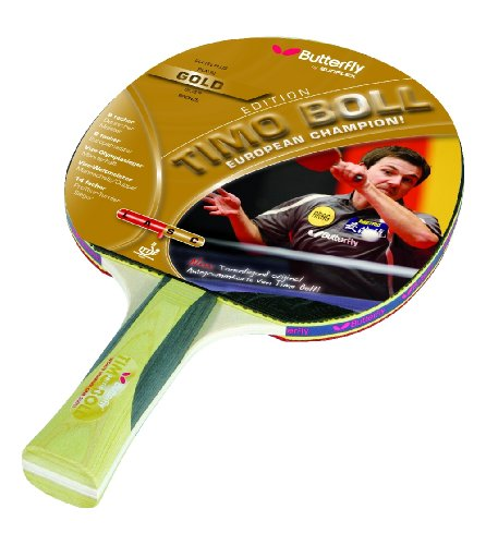 Butterfly Unisex Timo Boll Gold Table Tennis Bat - Gold, 26 cm