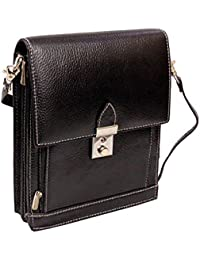 Stylish Genuine Leather Small Messenger Office Bag Cash Side Sling Bag By-Widnes