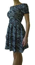 Trixxi Junior's Short Sleeve Black & Ivory Dress