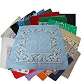 "Bandanas By The Dozen 100% Cotton, Head Wrap 22"" x 22"""