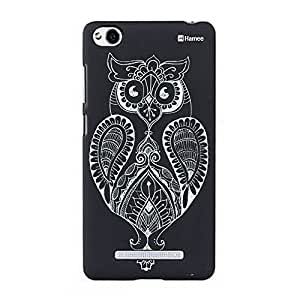 Customizable Hamee Original Designer Cover Thin Fit Crystal Clear Plastic Hard Back Case for OnePlus X / One Plus X / 1+X (Ethnic Henna Owl)