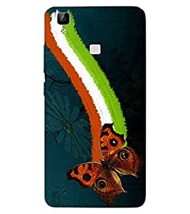 ColourCraft Beautiful Butterfly Design Back Case Cover for VIVO V3 MAX