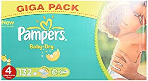 Pampers Baby Dry Couches Maxi 7-18 kg Taille 4 Format Gigapack x 132