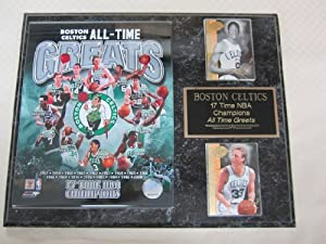 Boston Celtics All Time Greats 2 Card Collector Plaque w 8x10 Photo by Boston