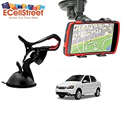ECellStreet TM Mobile phone soft tube mount holder with suction cup - Multi-angle 360° Degree Rotating Clip Windshield Dashboard Smartphone Car Mount Holder TATA Pelican