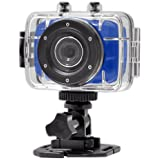 Gear-Pro High-Definition Sport Action Camera,720p Wide-Angle Camcorder With 2.0 Touch Screen - SD Card Slot, USB Plug And Mic - All Mounting Gear Included - For Biking, Riding, Racing, Skiing And Water Sports, Etc. - BLUE