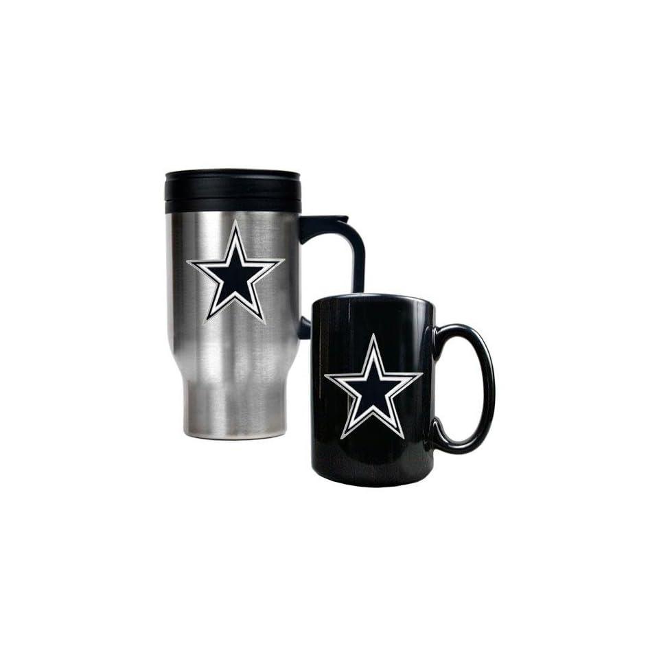 Dallas Cowboys NFL Travel Mug & Ceramic Mug Set   Primary