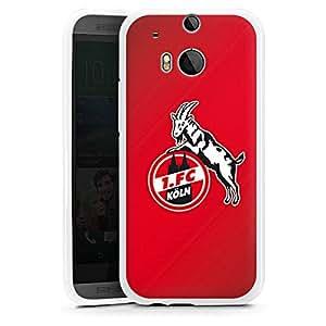 HTC One M8 Silikon Case Hülle weiß - 1. FC Köln rot