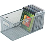 Silver Mesh Open Bin Storage Basket Organizer for Fruits, Vegetables, Pantry Items Toys, Etc.