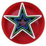 Global Decor Star Cookie Cutter Set, 3 Piece Set