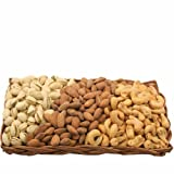 Gourmet Savory Nut Gift Basket-Wicker