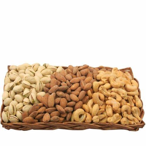 Gourmet Savory Nut Gift Basket-Wicker