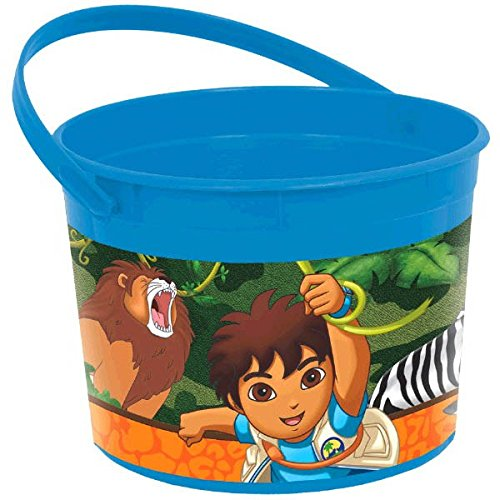 "Amscan Fun Diego's Biggest Rescue Plastic Birthday Party Favor Container, 4-1/2 x 6-1/4"", Blue - 1"