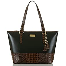 Medium Asher Tote<br>Black Tuscan