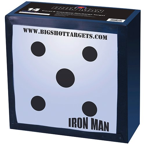 BigShot Iron Man Travel and Discharge Target, 14x14x7-Inch