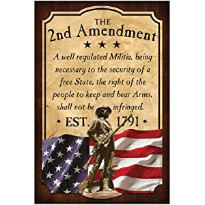 Amazon.com - Reflective Art the 2nd Amendment Box Top Artwork -