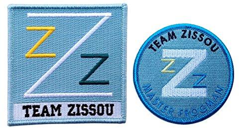 [Set of 2 - Master Frogman Team Zissou Cosplay Costume Patch Set] (Life Aquatic Team Zissou Halloween Costume)
