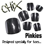 Chix Nails Nail Wraps PINKIES Silver Chrome JUST FOR TOES Toes Vinyl Foils Minx Trendy Style SALON