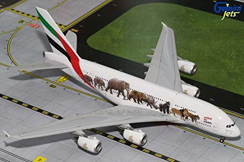 Gemini200 Emirates A380-800 'Wildlife 1' Airplane Model (Emirates Model compare prices)