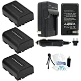 3-Pack NP-FM50 High-Capacity Replacement Batteries With Rapid Travel Charger For Select Sony Digital Cameras. UltraPro Bundle Includes: Camera Cleaning Kit Camera Screen Protector Mini Travel Tripod