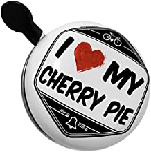 Bicycle Bell I Love my Cherry Pie by NEONBLOND