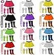 A-Express� Neon Tutu Skirt Legwarmer Beads Gloves Hen Fancy Dress Party Costumes Set