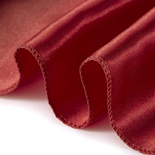Lann's Linens Satin Chair Sashes / Bows - for Wedding or Banquet - Burgundy - 10pcs
