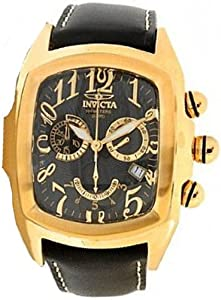 Mens Watch Invicta 13692 Lupah Lupah Gold Tone Stainless Steel Case Black Tone D