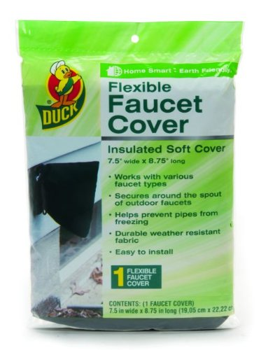 Duck Brand 280462 Insulated Soft Flexible Faucet Cover For Freeze Protection 7 5 By