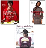 Lorraine Pascale Lorriane Pascale Collection 3 Books Set, (Supermodel Chef Lorraine Pascale: The Unauthorised Biography, Lorraine Pascale's Fast, Fresh and Easy Food and Baking Made Easy)
