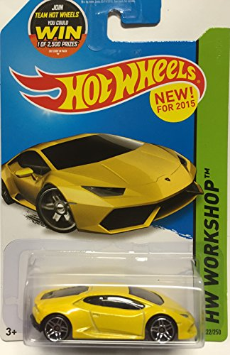 Hot Wheels, 2015 HW Workshop, Lamborghini Huracan LP 610-4 [Yellow] 222/250