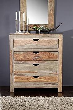 Palisander massiv Holz Kommode Sheesham Möbel Nature Grey #85