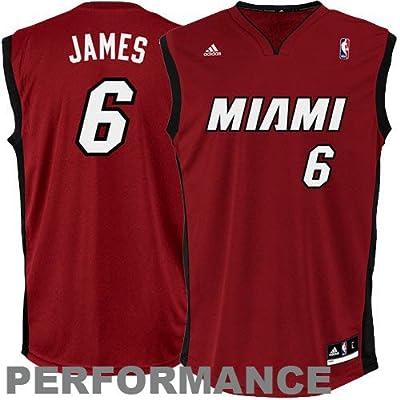 LeBron James Miami Heat #6 Youth Revolution 30 Replica Adidas NBA Basketball Jersey (Alternate Red)